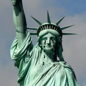 Weinende Freiheitsstatue